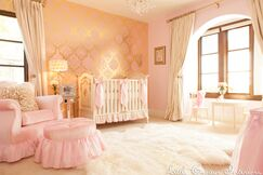 Pink and Gold Girls Nursery