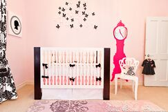 Black and Pink Girls Nursery
