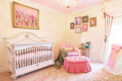 Ivory and Pink Girls Nursery
