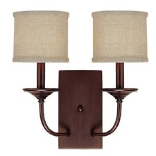 <strong>Capital Lighting</strong> Loft 2 Light Wall Sconce