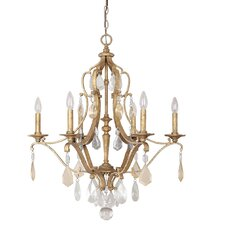<strong>Capital Lighting</strong> Blakely 6 Light Crystal Chandelier