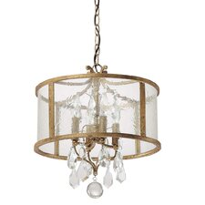 <strong>Capital Lighting</strong> Blakely 4 Light Drum Pendant