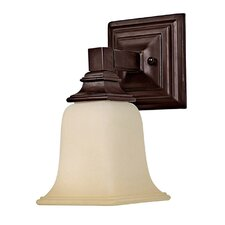 "10"" One Light Wall Sconce in Mediterranean Bronze"
