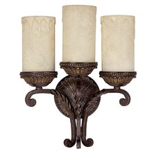 <strong>Capital Lighting</strong> Highlands 3 Light Wall Sconce