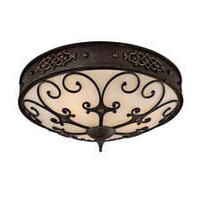 River Crest 3 Light Flush Mount