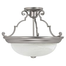 "14"" 3 Light Semi Flush Mount"