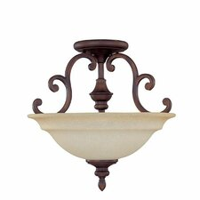 Chandler 3 Light Semi Flush Mount