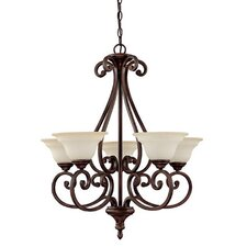 <strong>Capital Lighting</strong> Chandler 5 Light Chandelier
