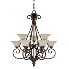 <strong>Capital Lighting</strong> Chandler 9 Light Chandelier