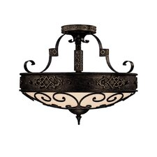 River Crest 4 Light Semi Flush Mount