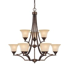 <strong>Capital Lighting</strong> Towne and Country 9 Light Chandelier