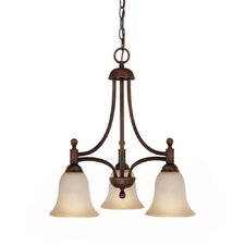 <strong>Capital Lighting</strong> Metropolitan 3 Light Energy Star Chandelier