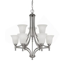 <strong>Capital Lighting</strong> Metropolitan 9 Light Chandelier with Alabaster Glass