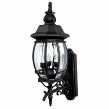 French Country 3 Light Outdoor Wall Lantern