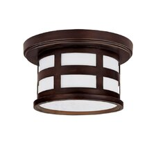 <strong>Capital Lighting</strong> Mission Hills Outdoor Flush Mount
