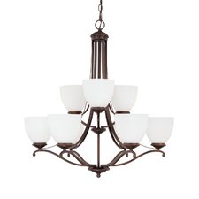 <strong>Capital Lighting</strong> Chapman 9 Light Chandelier