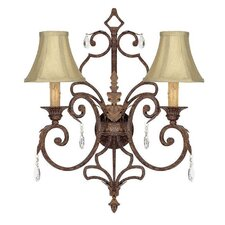 <strong>Capital Lighting</strong> Seville 2 Light Wall Sconce