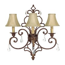 <strong>Capital Lighting</strong> Seville 3 Light Wall Sconce