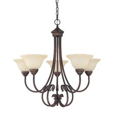 <strong>Capital Lighting</strong> Hometown 5 Light Chandelier