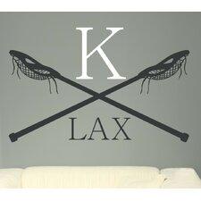 Lacrosse LAX Monogram Vinyl Wall Decal