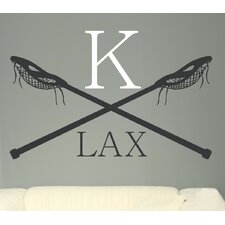 Personalized Lacrosse LAX Monogram Vinyl Wall Decal