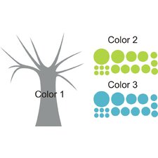 Polka Dot Candy Tree Wall Decal