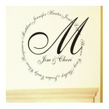 Personalized Family Name Monogram Wall Decal