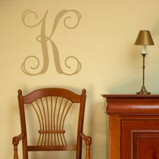 <strong>Alphabet Garden Designs</strong> Single Fancy Monogram Wall Decal