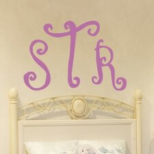Curly Monogram Wall Decal