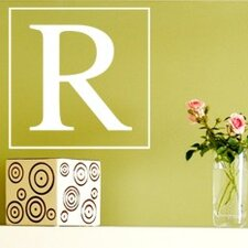 Single Square Monogram Wall Decal