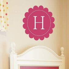 <strong>Alphabet Garden Designs</strong> Scalloped Monogram Wall Decal