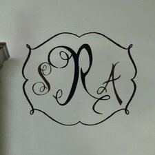 <strong>Alphabet Garden Designs</strong> Darling Monogram Wall Decal