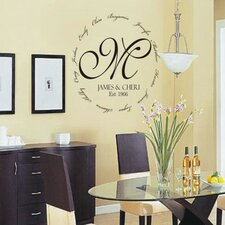 <strong>Alphabet Garden Designs</strong> Family Encircling Love Monogram Wall Decal