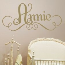 <strong>Alphabet Garden Designs</strong> Annie's Personalized Wall Decal