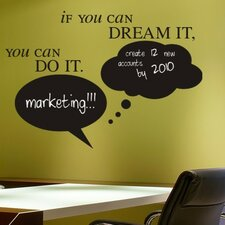 Chalkboard-Dream it, Do it Bubbles