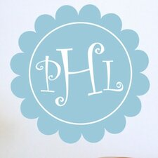 <strong>Alphabet Garden Designs</strong> Curlz Scalloped Monogram