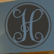 <strong>Alphabet Garden Designs</strong> Single Interlock Monogram Wall Decal