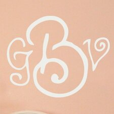 <strong>Alphabet Garden Designs</strong> Curly Whirly Monogram Wall Decal