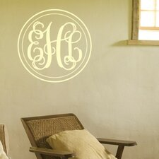 Double Circle Fancy Interlock Monogram Wall Decal