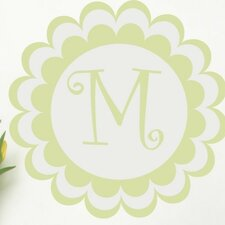 <strong>Alphabet Garden Designs</strong> Bloomster Monogram Wall Decal