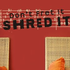 <strong>Alphabet Garden Designs</strong> Shred It Wall Decal