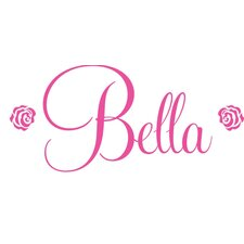 Bella Rose Personalized Vinyl Wall Decal