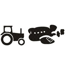 Tractor or Plane Wall Decal