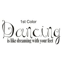 <strong>Alphabet Garden Designs</strong> Dancing is Dreaming Wall Decal