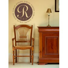 Personalized Sarah and Joseph Monogram Wall Decal