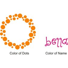 Personalized Bella's Dots Wall Decal