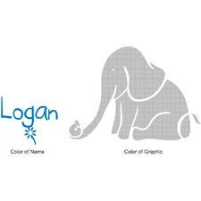 <strong>Alphabet Garden Designs</strong> Logan's Elephant Wall Decal