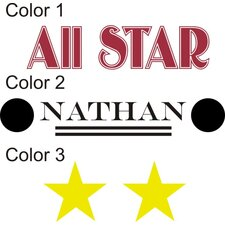 <strong>Alphabet Garden Designs</strong> Personalized All Star Wall Decal