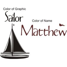 Personalized Sailor Wall Decal