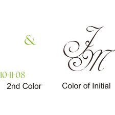 <strong>Alphabet Garden Designs</strong> Simple but Elegant Monogram Wall Decal